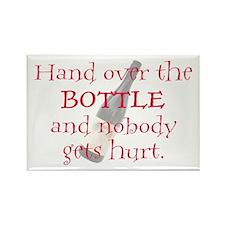 Hand Over The Bottle Rectangle Magnet