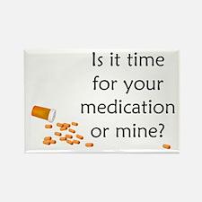 Medication Time Rectangle Magnet