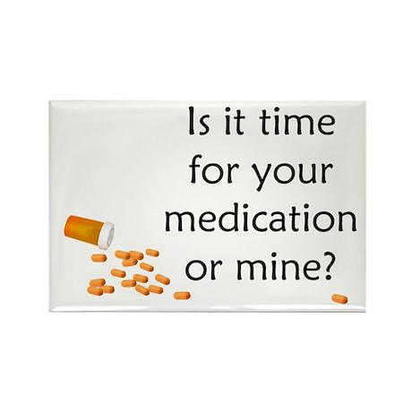 Medication Time Rectangle Magnet (10 pack)