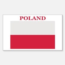 Poland Products Rectangle Decal