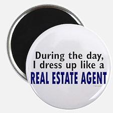 "Dress Up Like A Real Estate Agent 2.25"" Magnet (10"