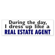 Dress Up Like A Real Estate Agent Bumper Car Sticker