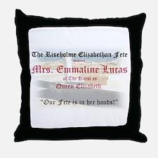 Queen Lucia Pillson's Tilling Throw Pillow