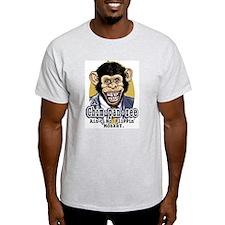A Chimpanzee Ain't NO Monkey Ash Grey T-Shirt