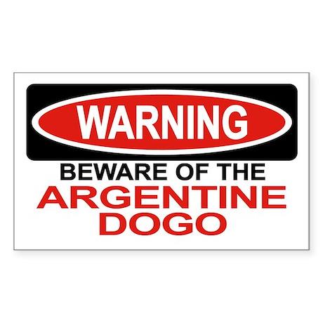 ARGENTINE DOGO Rectangle Sticker