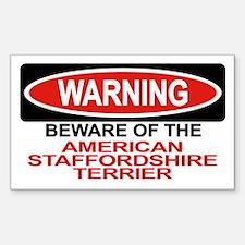 AMERICAN STAFFORDSHIRE TERRIER Sticker (Rectangula