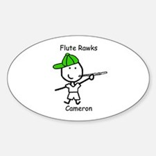 Flute - Cameron Oval Decal
