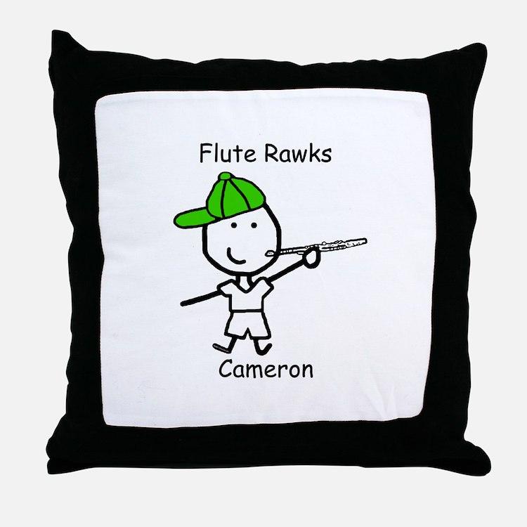 Flute - Cameron Throw Pillow