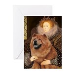 Queen / Chow (red) Greeting Cards (Pk of 20)