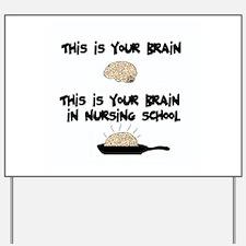 Fried Nursing Student Brain Yard Sign