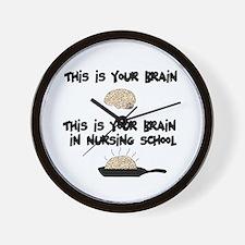 Fried Nursing Student Brain Wall Clock