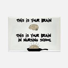 Fried Nursing Student Brain Rectangle Magnet