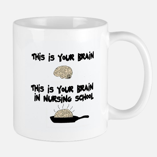 Fried Nursing Student Brain Mug