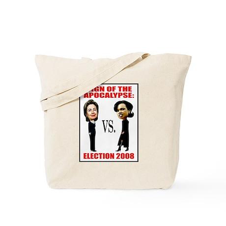 Hillary Clinton Vs. Condi Rice Tote Bag