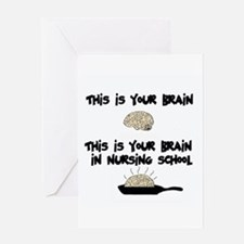 Fried Nursing Student Brain Greeting Card