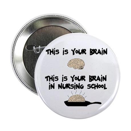 "Fried Nursing Student Brain 2.25"" Button (10 pack)"
