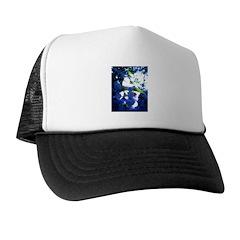 Apple Blossom Blues Trucker Hat