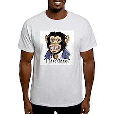 I like Chimps Ash Grey T-Shirt