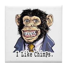 I like Chimps Tile Coaster