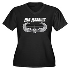 Army Air Assault Women's Plus Size V-Neck Dark T-S