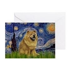 Starry / Chow #! Greeting Card
