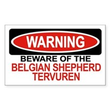 BELGIAN SHEPHERD TERVUREN Rectangle Decal