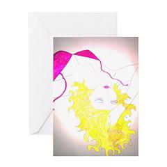 Golden Gal Greeting Card