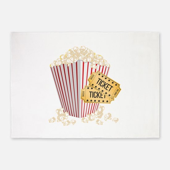 Movie Popcorn 5'x7'Area Rug