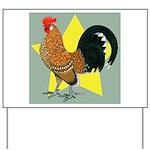 Dutch Bantam Cock Yard Sign