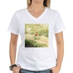 robin Women's V-Neck T-Shirt
