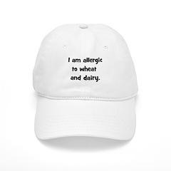 Allergic to Wheat & Dairy - B Baseball Cap