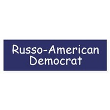 Russo-American Democrat Bumper Bumper Sticker