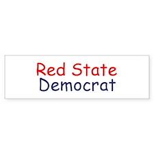Red State Democrat Bumper Bumper Sticker