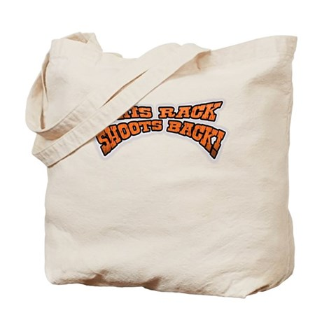 nice rack shoots back gifts a Tote Bag