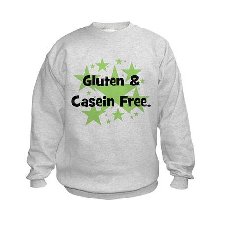 Gluten & Casein Free - stars Kids Sweatshirt