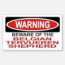 BELGIAN TERVUEREN SHEPHERD Rectangle Decal