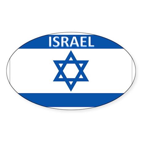 Israel Oval Sticker