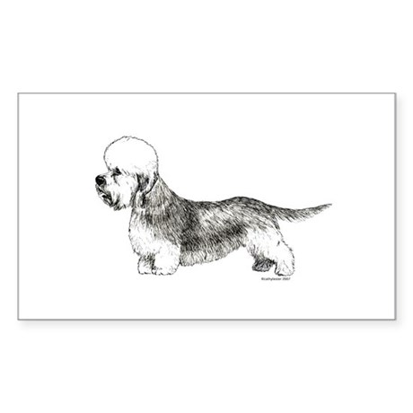 Dandie Dinmont Terrier Rectangle Sticker