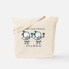 Teal Ribbon - Mission Sisters Tote Bag