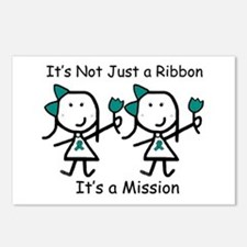 Teal Ribbon - Mission Sisters Postcards (Package o