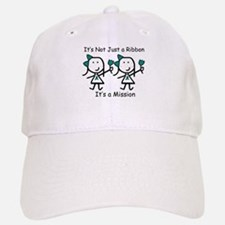 Teal Ribbon - Mission Sisters Baseball Baseball Cap