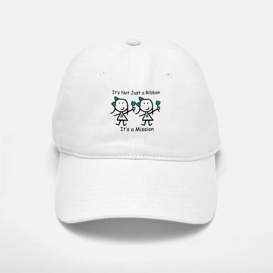 Teal Ribbon - Mission Sisters Baseball Baseball Cap