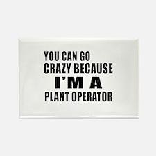 I Am Plant operator Rectangle Magnet
