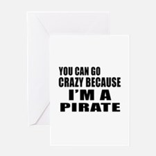 I Am Pirate Greeting Card