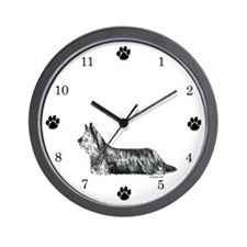 Skye Terrier Wall Clock