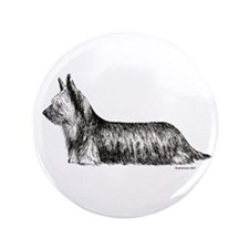 "Skye Terrier 3.5"" Button"