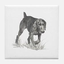German Wire Hair Pointer Tile Coaster