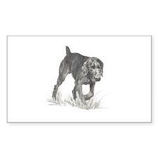 German Wire Hair Pointer Rectangle Decal