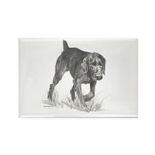 German Wire Hair Pointer Rectangle Magnet
