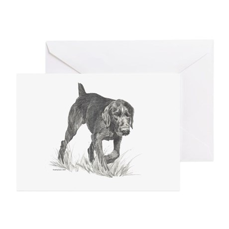 German Wire Hair Pointer Greeting Cards (Pk of 10)